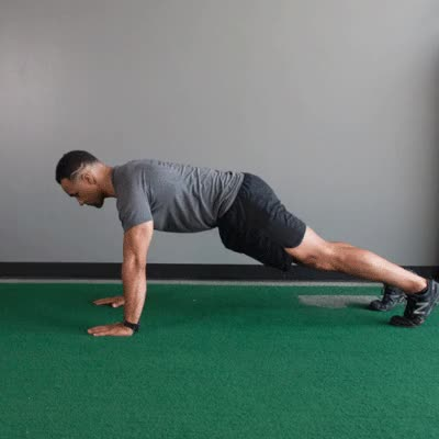 Watch and share 400x400 What Muscles Do Pushups Work Plyometric GIFs by Healthline on Gfycat