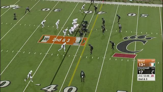 Watch NCAAF - Miami at Cincinnati (2015) GIF on Gfycat. Discover more american football (sport), college football (sports association), miami hurricanes football (american football team) GIFs on Gfycat