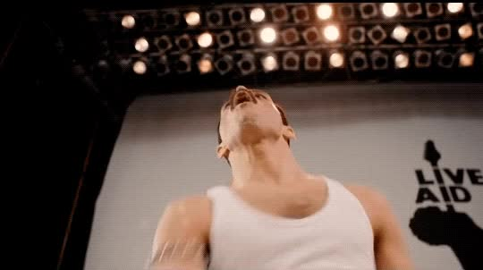 Watch this curated GIF by The GIF Smith (@sannahparker) on Gfycat. Discover more Rami Malek, awesome, bohemian rhapsody, freddie mercury, queen, yes GIFs on Gfycat
