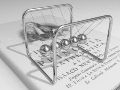 Newtons cradle animation book GIFs