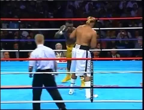 abraham okine, boxing, shannon briggs, Shannon Briggs VS Abraham Okine GIFs