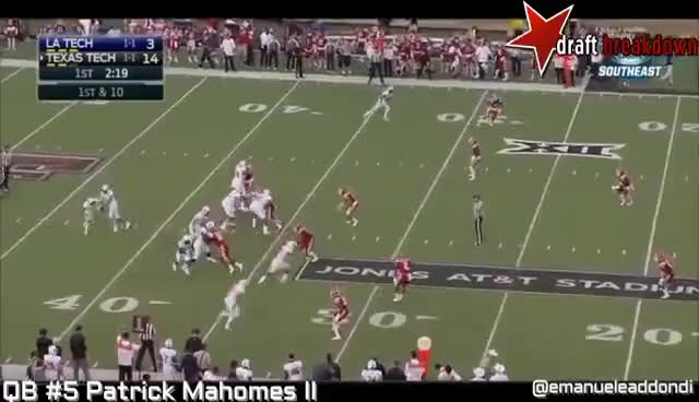 Watch and share Patrick Mahomes II  Vs Lousiana Tech(2016) GIFs on Gfycat