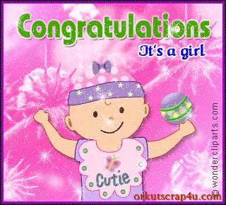 Watch and share Congratulations It's A Girl New Baby Scrap GIFs on Gfycat