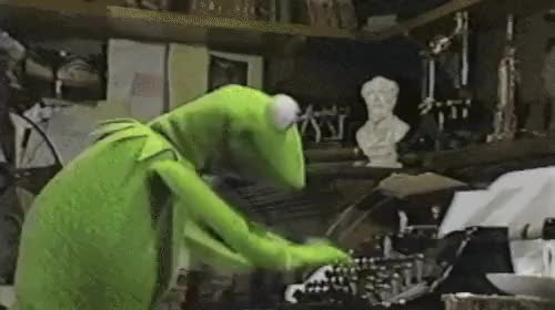 Watch kermit typing GIF on Gfycat. Discover more related GIFs on Gfycat