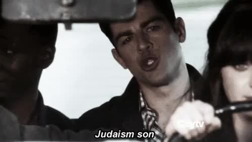 Watch and share Schmidt's Top Eight Greatest Jewish Quotes | Crasstalk GIFs on Gfycat