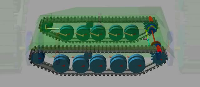 Watch Adams Tracked Vehicle Toolkit - Tank with Cross Drive turning around GIF on Gfycat. Discover more ATV, Adams, Cross Drive, Gear, Generator, MSC Software, Tank, Tracked, Vehicle GIFs on Gfycat
