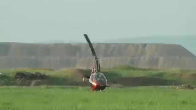 Watch and share Small Helicopter's Rotors Catch The Ground During Takeoff, Flipping The Aircraft GIFs by tothetenthpower on Gfycat