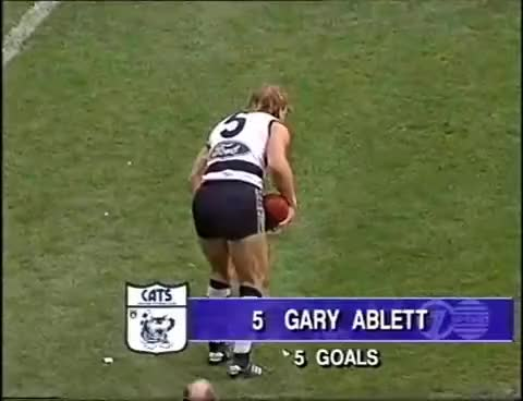 Watch and share Classic Cats: Gary Ablett's Mark Of The Century - Extended Coverage And Context GIFs on Gfycat