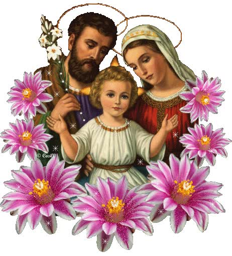 Watch and share Jesus, Marie, Joseph, Fleurs, Dieu animated stickers on Gfycat
