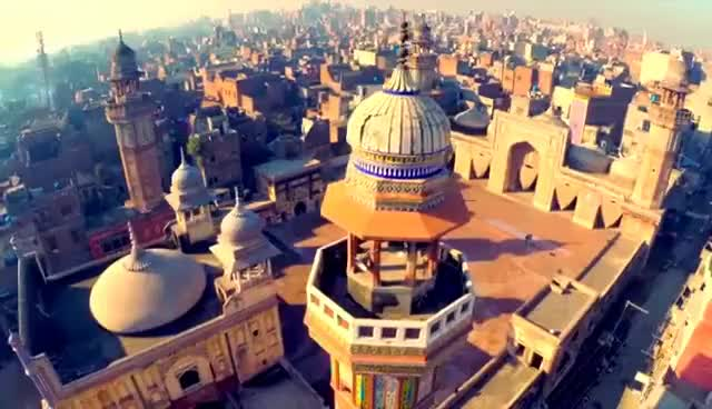 Watch and share Arial/drone View Of Wazir Khan Mosque Lahore, Pakistan Historical&Attrective Place Ever GIFs on Gfycat