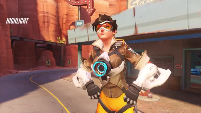Watch From Downtown GIF by @glitchedchaos on Gfycat. Discover more highlight, overwatch, tracer GIFs on Gfycat