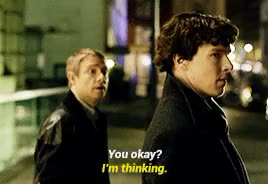 Watch and share Martin Freeman GIFs and Bbc Sherlock GIFs on Gfycat