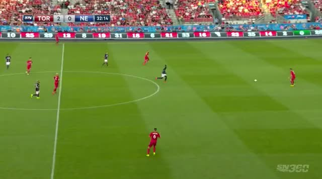 Watch and share TFC Pulls Fullback Up So Giovinco Can Run Into Space GIFs by Evercombo on Gfycat