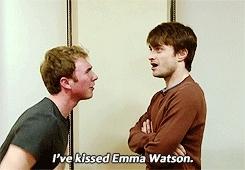 daniel radcliffe, funny Daniel Radcliffe kiss GIFs