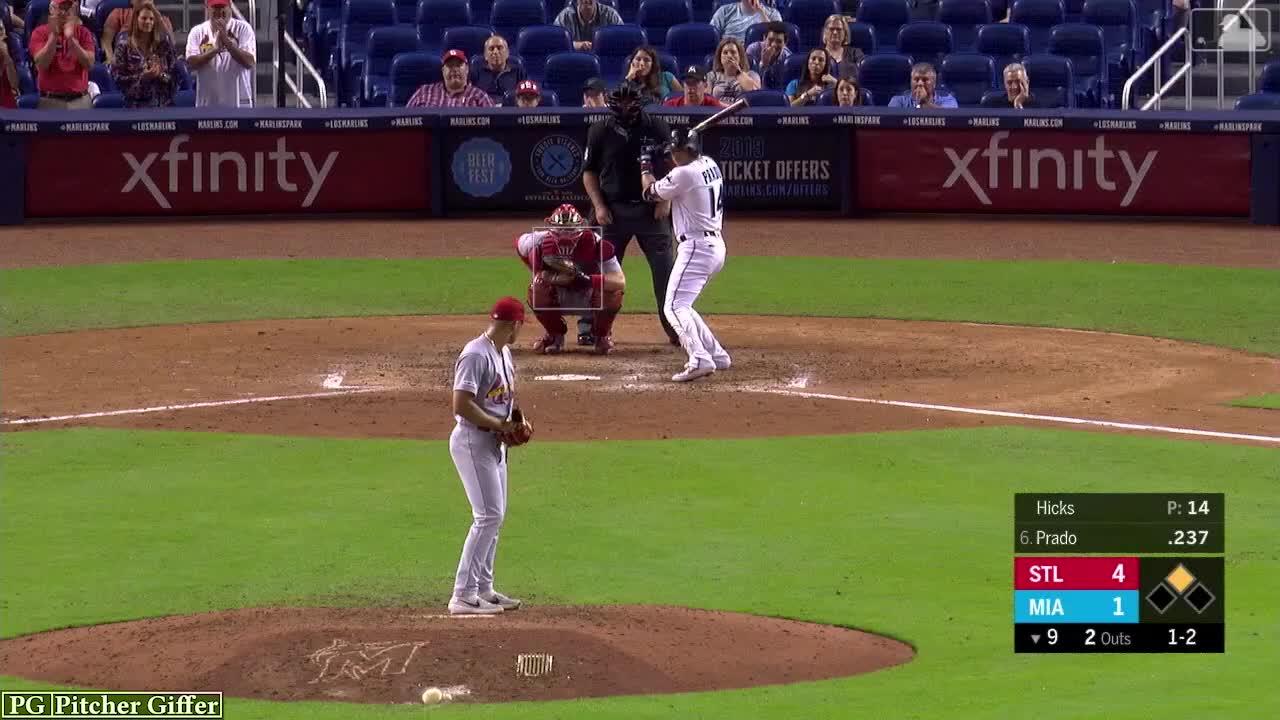 baseball, cardinals, jordan hicks, miami marlins, mlb, sports, st louis cardinals, st.louis cardinals, Jordan Hicks Sinker 6-10 GIFs
