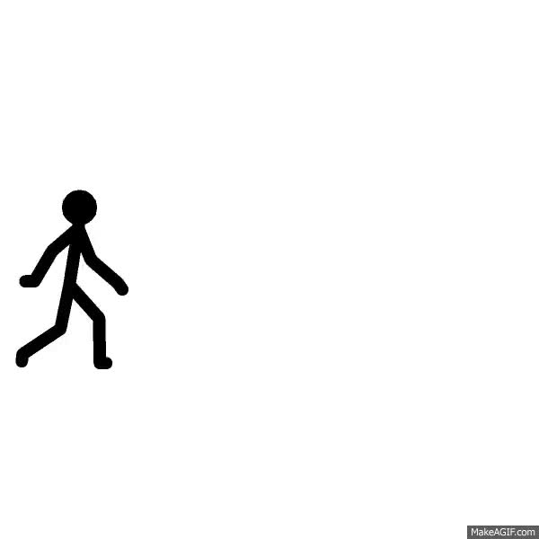 Watch and share Walking Stickman GIFs on Gfycat