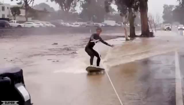 surf, surfing, Extreme Puddle Surfing! GIFs