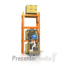 Watch and share Reach Truck Moving Pallets Around PowerPoint Animation GIFs on Gfycat