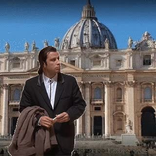 Watch and share Travolta-Vatican3 GIFs on Gfycat