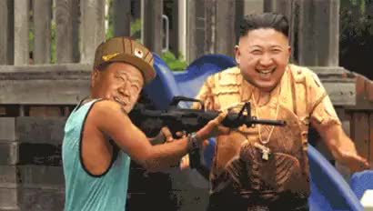 Watch and share Happy Kim Jong Un Kim Jong Un Is Showing Narcism Ea GIFs on Gfycat
