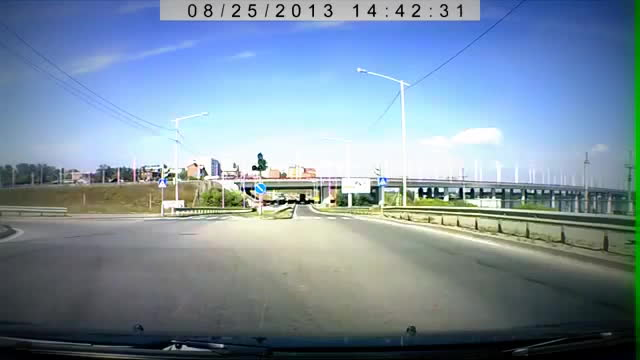 accident, cyclist, gif, Russian roadcam: cyclist causes accident GIFs