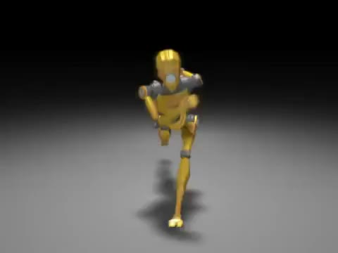 3D, CGI, Walk, animation, cartoon, cycle, robot, run, Robot 3D Run Cycle Animation GIFs