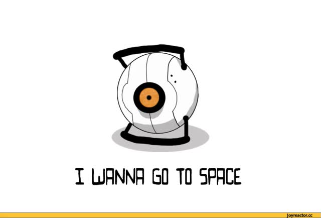 Watch and share Portal 2,space Core,космос,ржач,песочница animated stickers on Gfycat