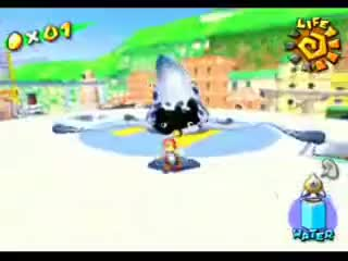 Watch Super Mario Sunshine Miniboss: Gooper Blooper Again GIF on Gfycat. Discover more All Tags, Game, Sprite, Squid, Sunshine, blooper, boss, fish, fludd, gamecube, get, gooper, mario, nintendo, shadow, shine, shines, super, tv, video GIFs on Gfycat