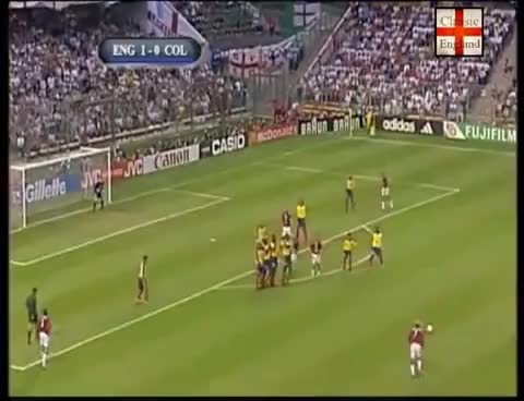 Watch and share David Beckham Free Kick England Vs Colombia 26 06 1998 GIFs on Gfycat