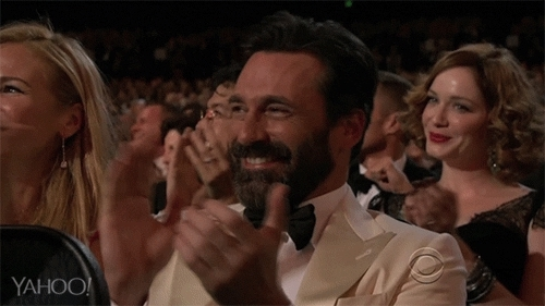 applause, clap, clapping, jon hamm, respect, slow clap, Jon Hamm Clapping GIFs