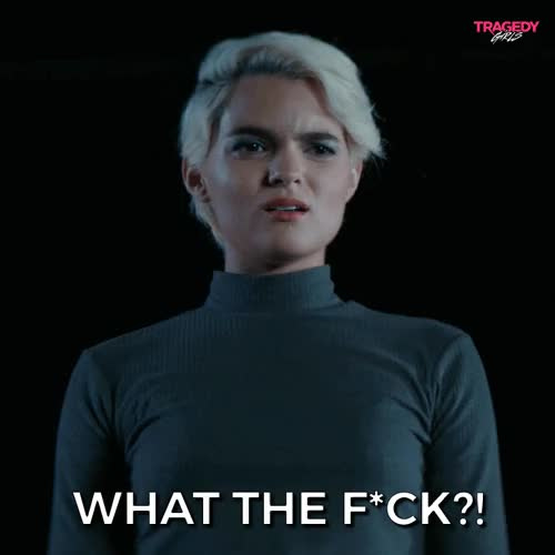 Watch and share Brianna Hildebrand GIFs and What The Fuck GIFs on Gfycat