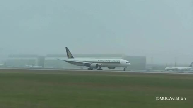 Watch MISSED LANDING Singapore Airlines B777-312ER Munich Airport GIF on Gfycat. Discover more related GIFs on Gfycat