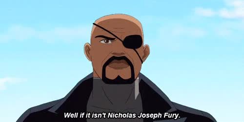 Watch this nick fury GIF on Gfycat. Discover more 3x13, gamora, nick fury, superhero, superheroes, ultimate spiderman GIFs on Gfycat