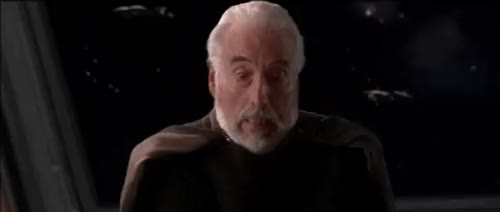 "Watch and share Anakinskyguy: "" The Death Of Count Dooku "" GIFs on Gfycat"