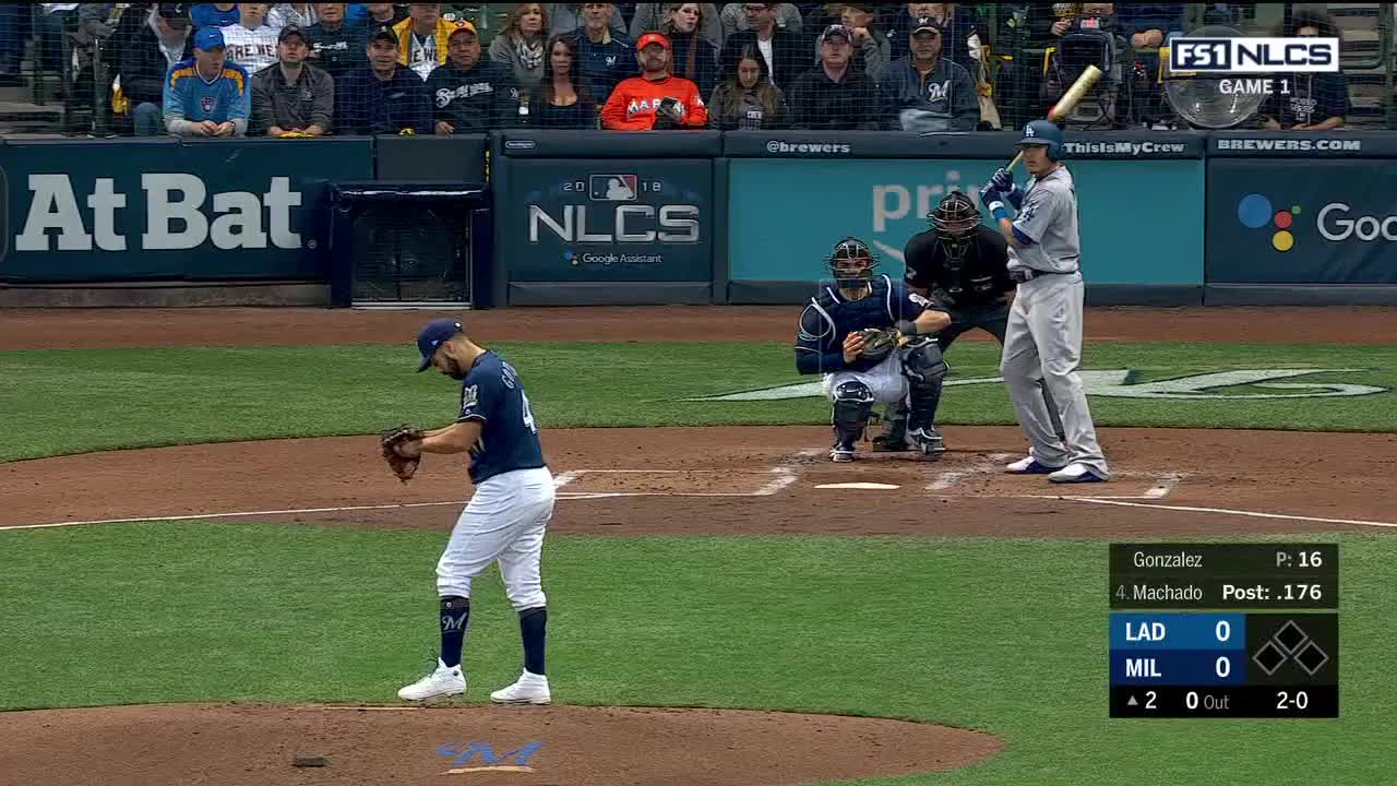 Los Angeles Dodgers, Milwaukee Brewers, baseball, boomsports, MLB Playoff: Game 1: Los Angeles Dodgers at Milwaukee Brewers | Fox Sports 1 | Clippit GIFs
