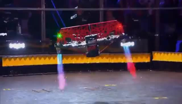 Hypershock vs. Warrior Clan - BattleBots GIFs