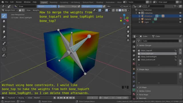 Watch and share Blender - Merge Weights Question GIFs on Gfycat