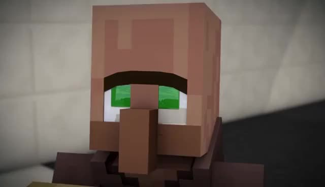 Watch and share Minecraft Villager Puppy Eyes GIFs on Gfycat