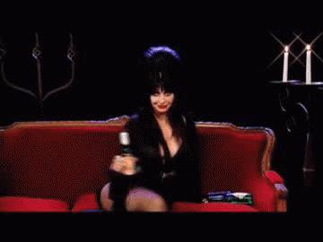 Cassandra Peterson, cheers, elvira, mistress of the dark, world goth day, Elvira Cheers GIFs