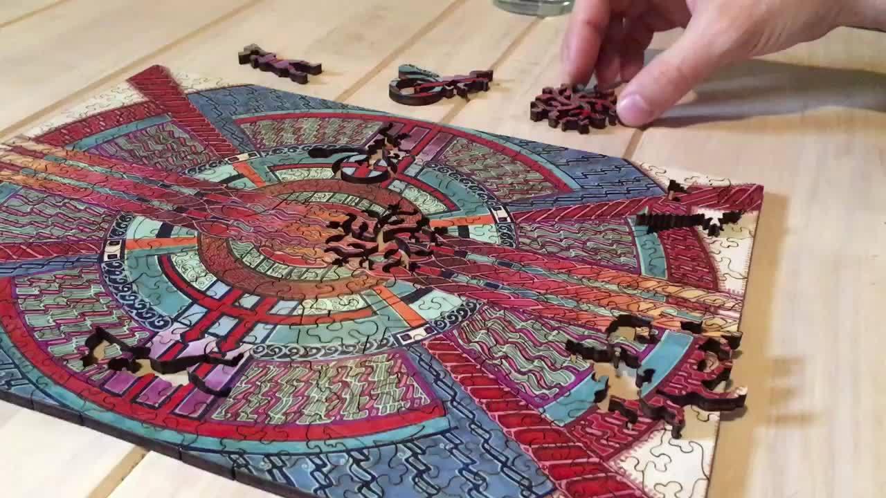 oddlysatisfying, perfectfit, Laser-cut Jigsaw Puzzle GIFs