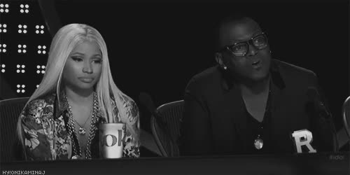 Watch and share Randy Jackson GIFs and Nicki Minaj GIFs on Gfycat