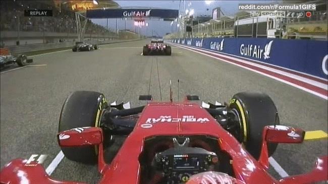 formula1gifs, Kimi Raikkonens start - Bahrain 2015 (reddit) GIFs
