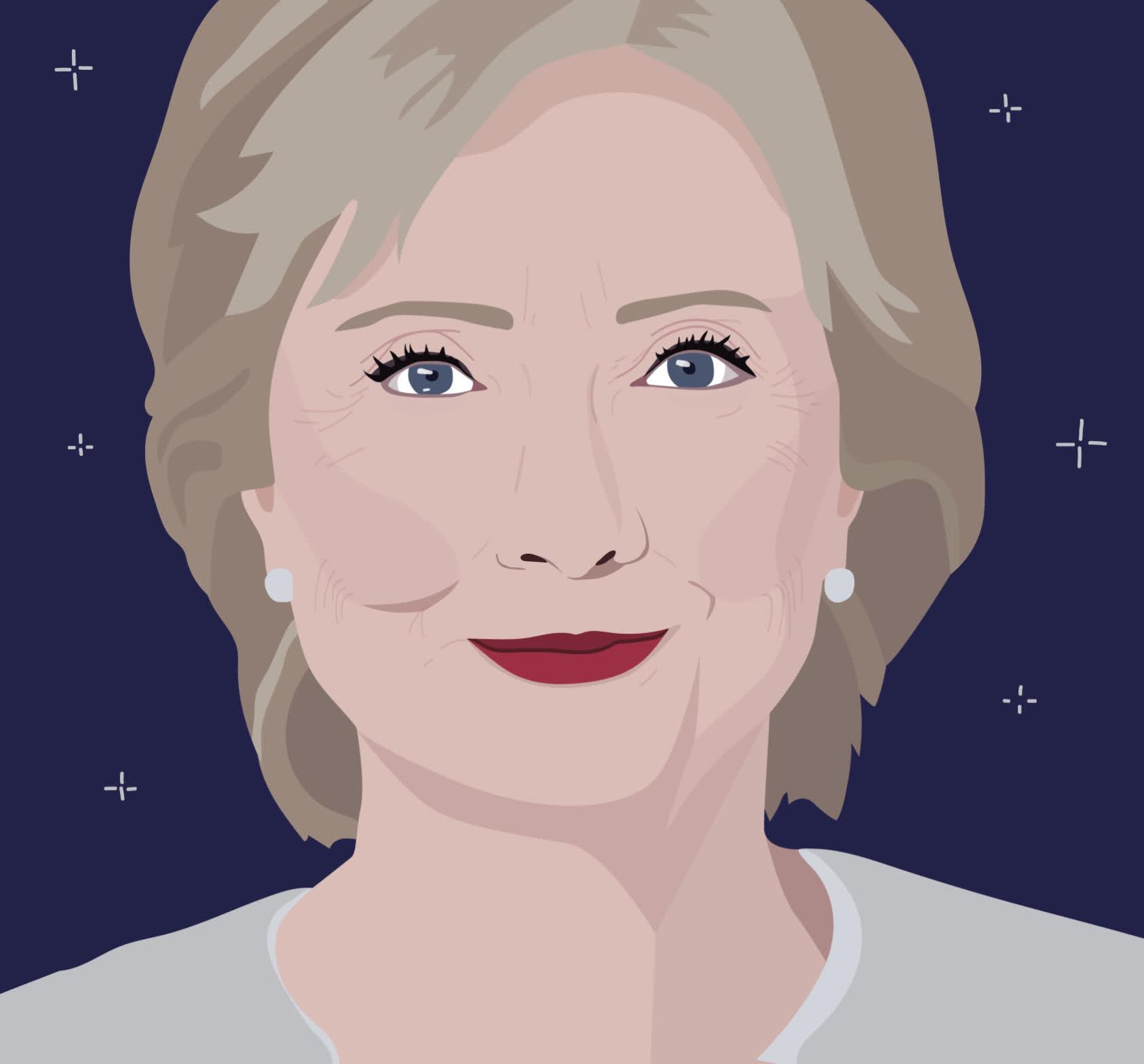 animation, hillary clinton, julie winegard, wink, Hillary Clinton Wink Animation GIFs
