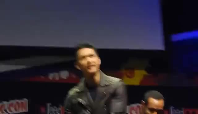 Watch and share Harry Shum Jr Showing Us The Magnus Moves! NYCC GIFs on Gfycat