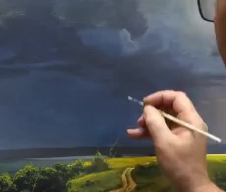 Painting some realistic lightning