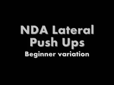 Watch and share NDA Lateral Pushups Beginner GIFs by floreiomovement on Gfycat