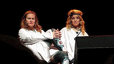 grace helbig, mace, mamrie hart, this might get weird y'all, tmgwy, this is my new favorite gif of all time gracehelbig and mamr GIFs