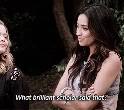 Watch and share Pretty Little Liars GIFs and Sara Is Black Widow GIFs on Gfycat