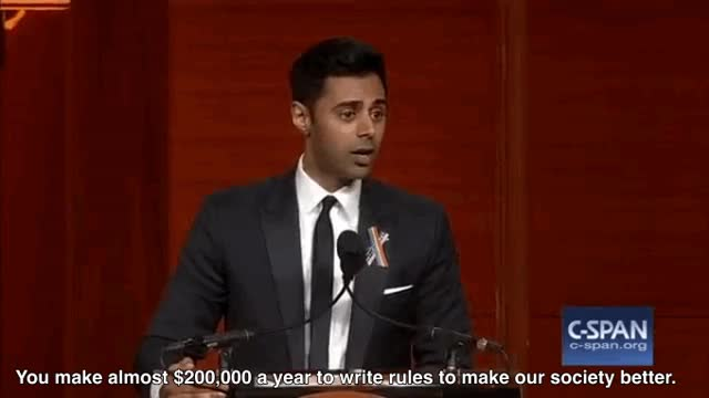Watch and share Muslim Comedian Hasan Minhaj Spells Congress' Job Out For Them GIFs on Gfycat