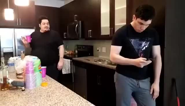 Greek and Trainwrecks dancing (non clip-chimp) | IRL